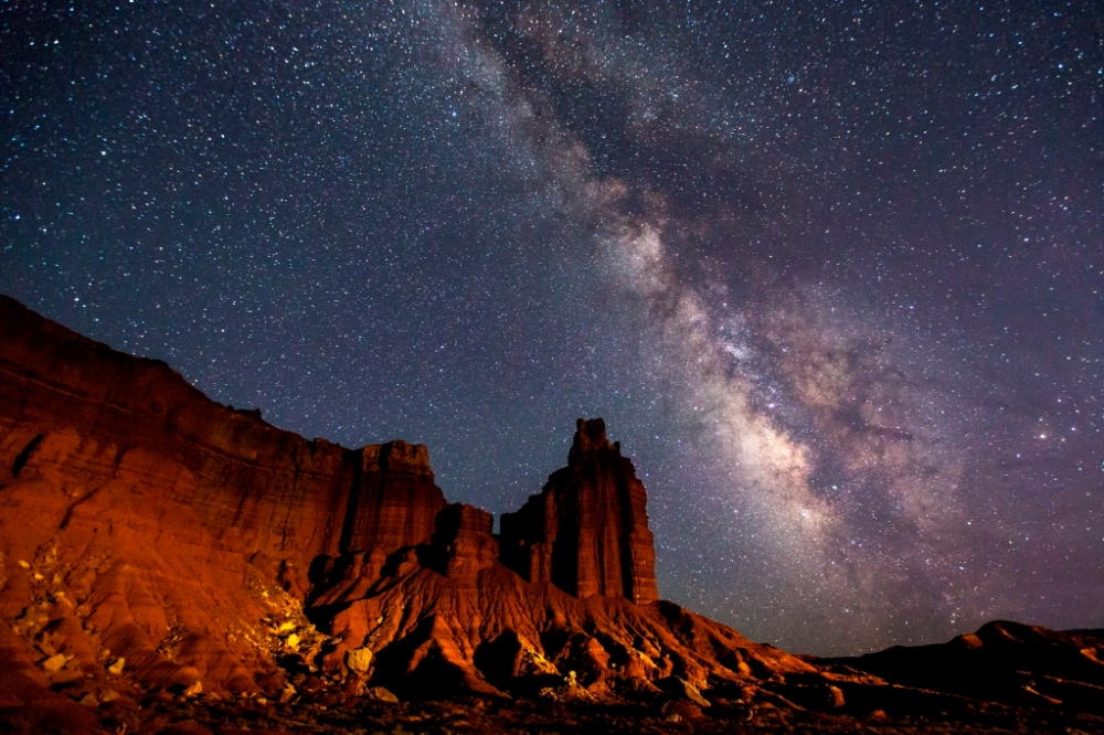 Milky Way Over Chimney Rock- Jacob W Frank