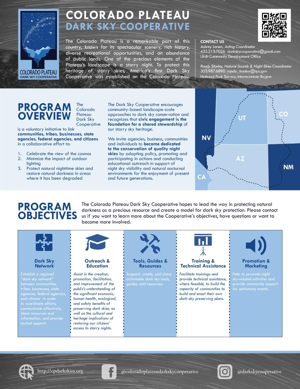 new cpdsc informational flyer colorado plateau dark sky cooperative